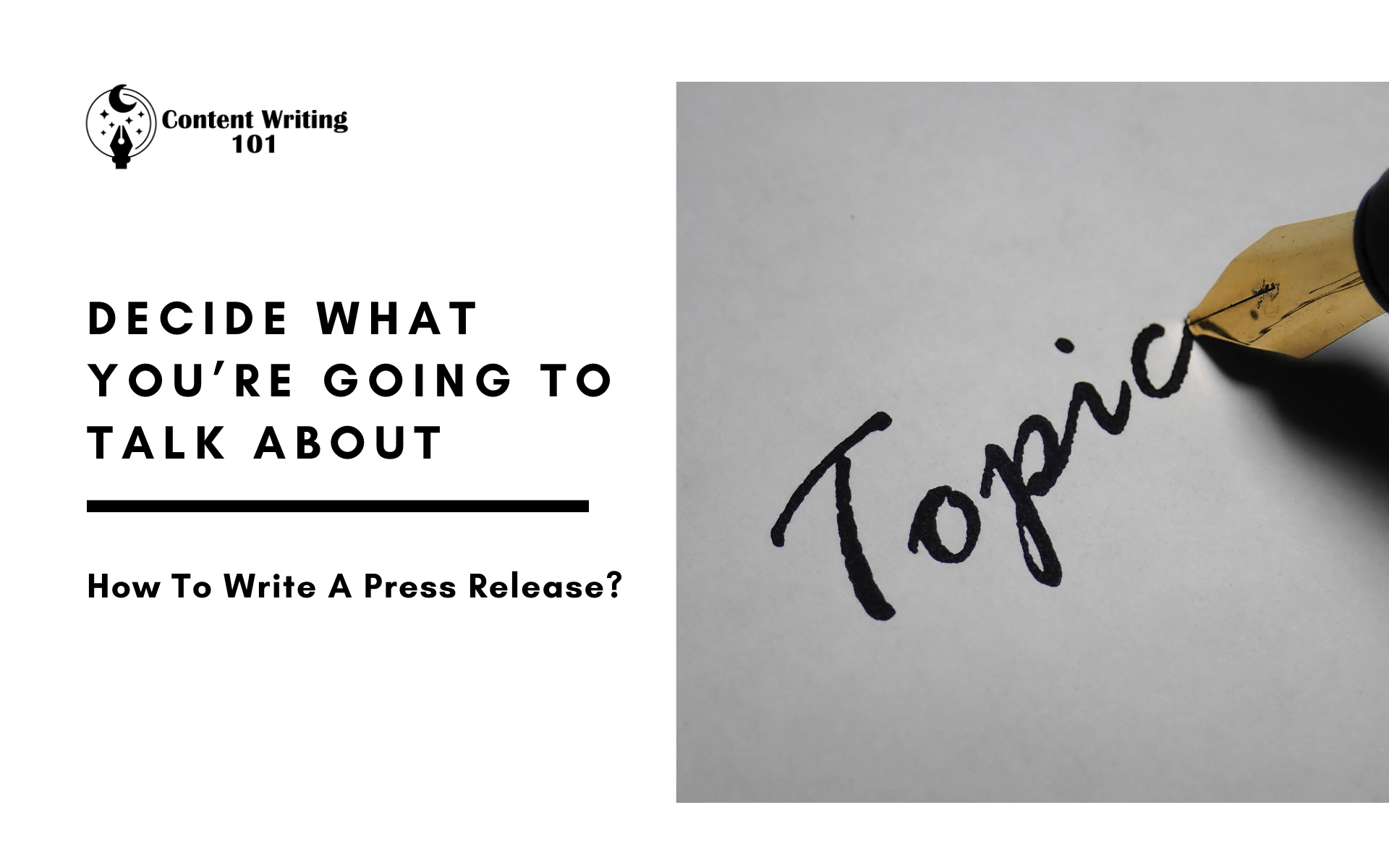 How To Write A Press Release?