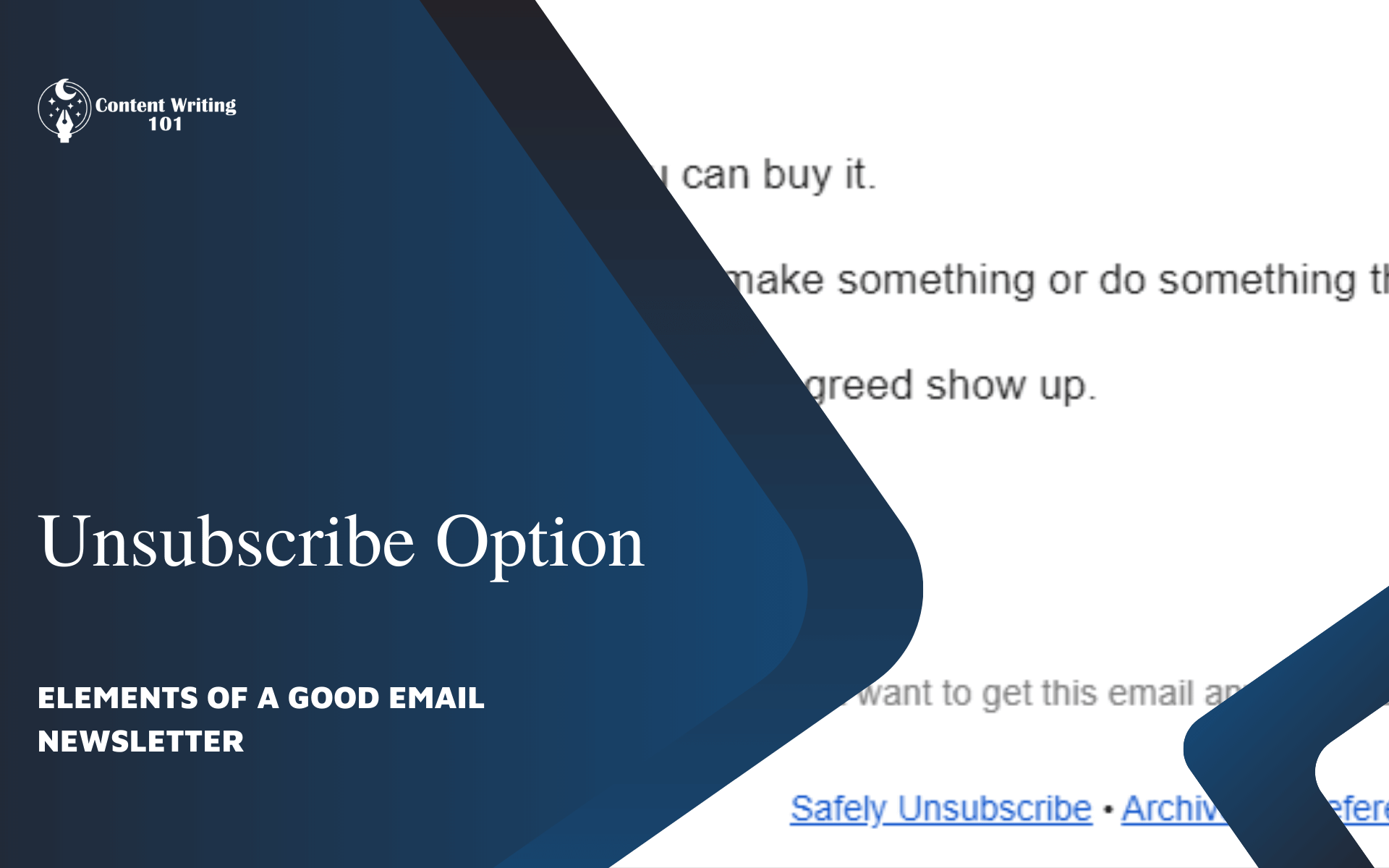 11. Unsubscribe Option