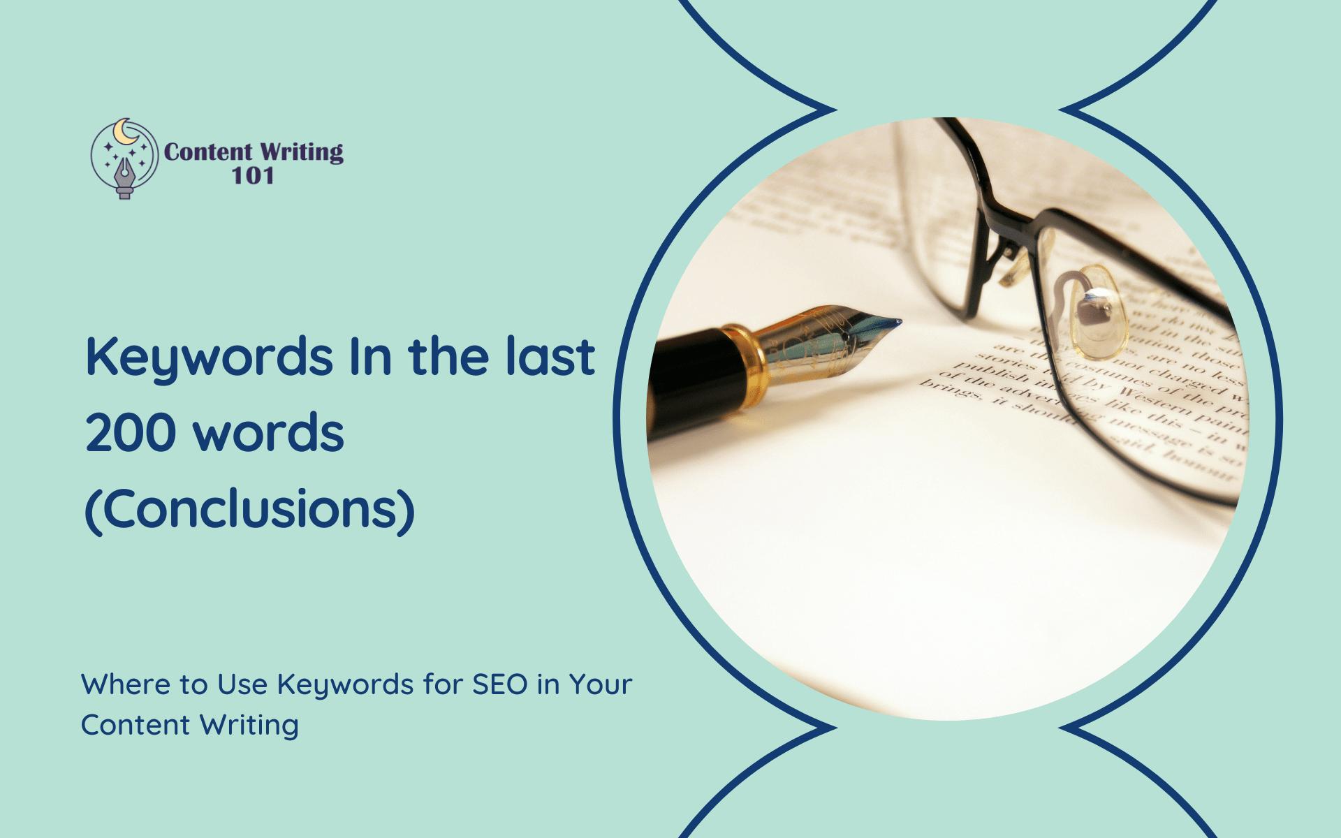 Keywords in The Last 100-200 Words